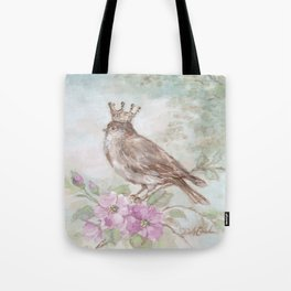 French Crown and Feathers Tote Bag