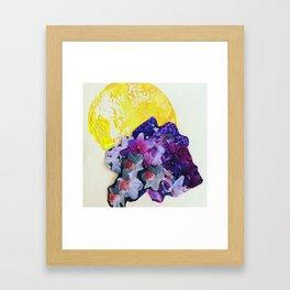 Garden Circle - Bright Yellow Framed Art Print