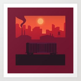 The Lonely Boxcar Art Print