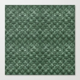 Quilted Forest Green Velvety Pattern Canvas Print