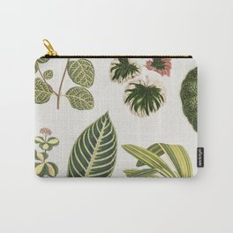 Botanical Green Plants Watercolor Painting Carry-All Pouch