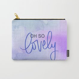 Oh So Lovely - Cool Toned Watercolours Carry-All Pouch
