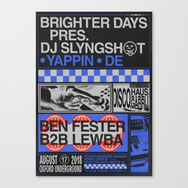 Brighter Days / DJ Slyngshot Canvas Print