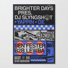 Brighter Days / DJ Slyngshot Canvas Print