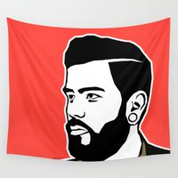 hipster Wall Tapestries featuring hipster by mark ashkenazi