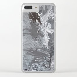 Flowing Through The Cracks Clear iPhone Case