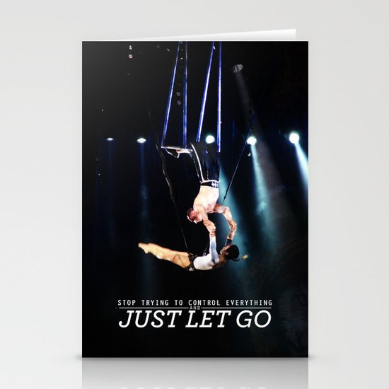 Just Let Go Stationery Cards