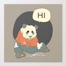 Mr Panda Canvas Print