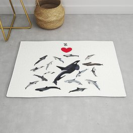 I love dolphins Rug