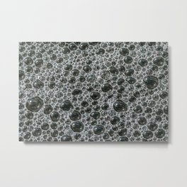 Bubbles Frozen in Time. Photograph Metal Print