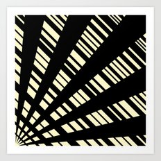 Fancy  |  Cream & Black Art Print