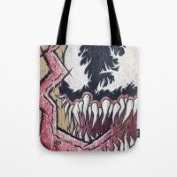 venom Tote Bags featuring Venom by chris panila