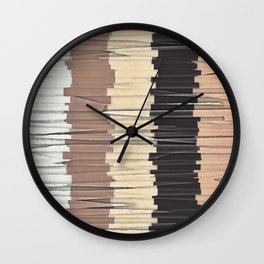 Shreds of Colors 3 Wall Clock