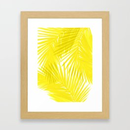 Palms Yellow Framed Art Print