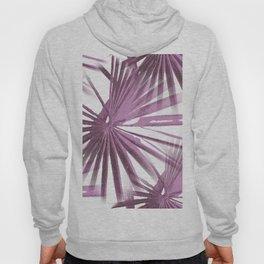 Lilac on White Tropical Vibes  Beach Palmtree Vector Hoody