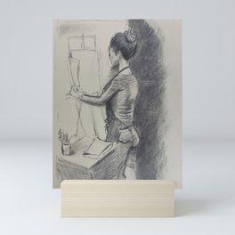 Study of an Artist Mini Art Print