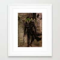 the joker Framed Art Prints featuring joker by DeMoose_Art