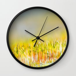Colorful sprouts Wall Clock