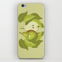 pear iPhone & iPod Skins featuring Pear by Marlene Pixley