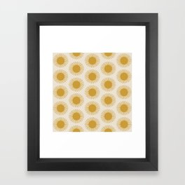 Golden Sun Pattern Framed Art Print