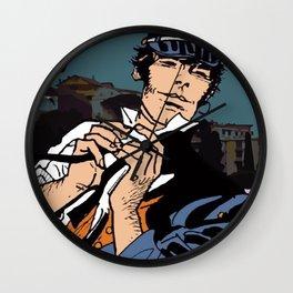 Corto Maltese dans le vent Wall Clock