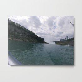 Niagara Clouds Metal Print