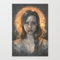 katniss Canvas Prints featuring Katniss by Sam Spratt