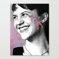 sylvia plath Canvas Prints featuring Sylvia Plath by Grace