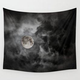 Black Night Wall Tapestry