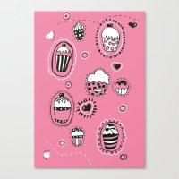 cupcakes Canvas Prints featuring Cupcakes! by Duru Eksioglu