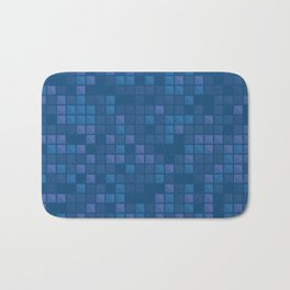 november blue geometric pattern Bath Mat