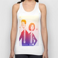 mulder Tank Tops featuring mulder n scully by clairen0vak