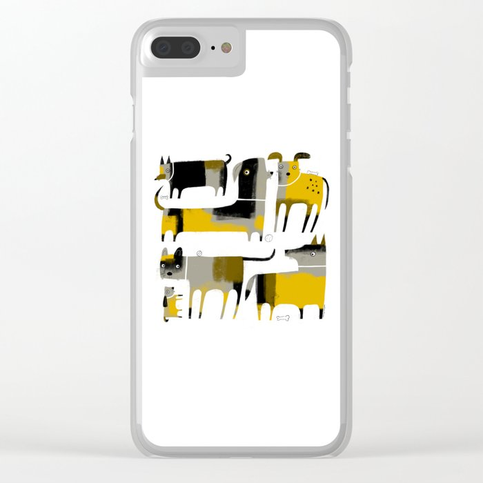 PATCHWORK DOGS Clear iPhone Case