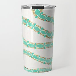 Mint & Gold Serpent Travel Mug