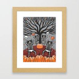 Cats Celebration of Halloween Framed Art Print