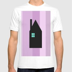 The House With The Turquoise Light On No.3 MEDIUM Mens Fitted Tee White
