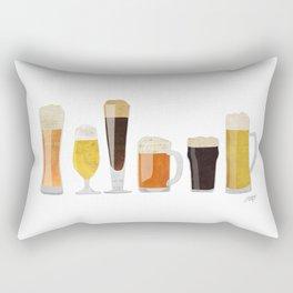 Beer Mugs Rectangular Pillow