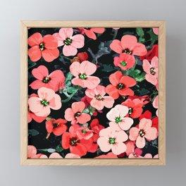 Watercolor Red Flower Framed Mini Art Print