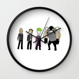 Not-So-Dark Knight Rogues Wall Clock