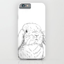 Curious Holland Lop Bunny iPhone Case