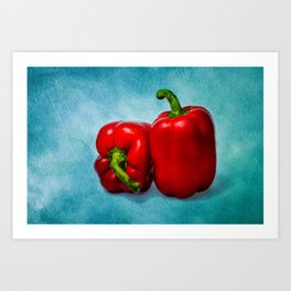 Red Bell Peppers Art Print