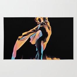 3306s-EH Dancing Woman Rendered in Pastel Female Figure by Chris Maher Rug