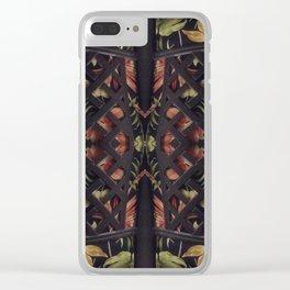 Tropical Latticework Pattern Clear iPhone Case