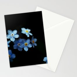 Forget Me Nots on Black Stationery Cards
