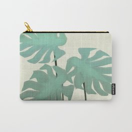 Tropical Monastera Spring Carry-All Pouch