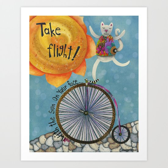 Take Flight With The Sun On Your Face Art Print