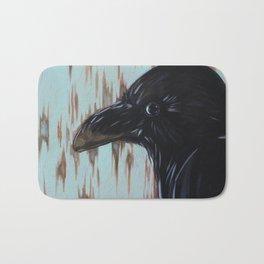 Crow In Blue Bath Mat