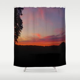 sunset hwy 13 Shower Curtain