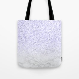 Violet Glitter and Marble Tote Bag