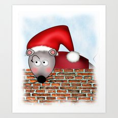 Christmas Mouse Art Print